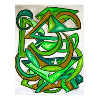 Geometry Homework - Abstract Art Postcard