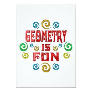"""Geometry is FUN 5"""" X 7"""" Invitation Card"""