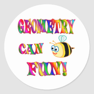 Geometry is Fun Round Stickers