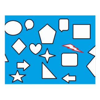 Geometry is my life postcard
