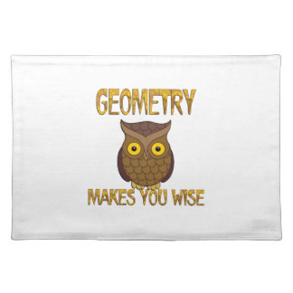 Geometry Makes You Wise Placemat