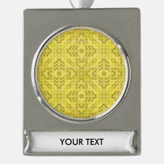 Geometry of the Sun God Silver Plated Banner Ornament