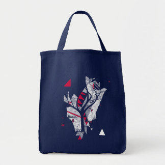 geometry of tree tote bag