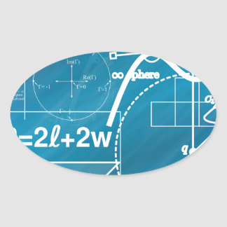 Geometry Oval Sticker