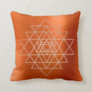 Geometry Peach Pink Rose Gold Triangles Orange Vip Cushion