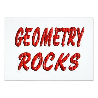 """Geometry ROCKS 5"""" X 7"""" Invitation Card"""