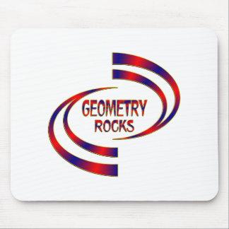 Geometry Rocks Mouse Pad