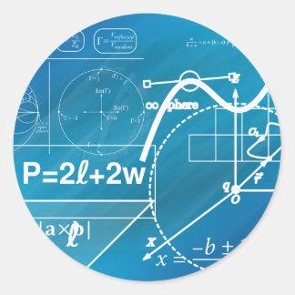 Geometry Round Sticker