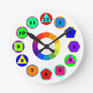 geometry shapes round clock