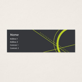 Geometry - Skinny Mini Business Card