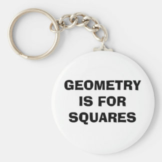 Geometry Squares Key Ring