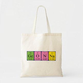 Geonna periodic table name tote bag
