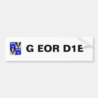 Geordie Coat Of Arms G EOR D1E Bumper Sticker