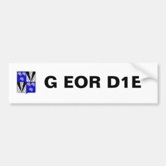 Geordie Coat Of Arms, G EOR D1E Bumper Sticker