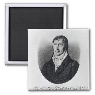 Georg Wilhelm Friedrich Hegel Square Magnet