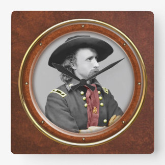 "George A. Custer 10.75"" Square Wall Clock"