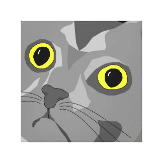 George abstract stretched canvas design