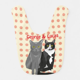 George and Lucas baby bib