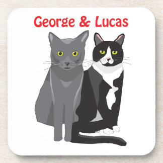 George and Lucas set of six drinks coasters