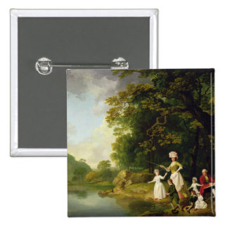 George and Mary Browne with their Five Elder Child 15 Cm Square Badge