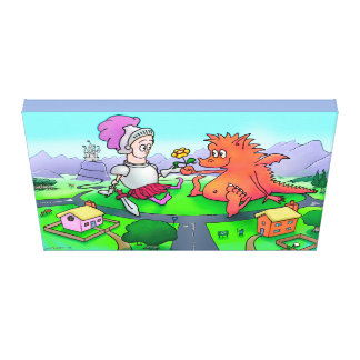 George and the Dragon Canvas Print