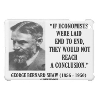 George Bernard Shaw Economists Laid End To End Cover For The iPad Mini