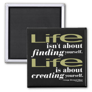 George Bernard Shaw Quote Square Magnet