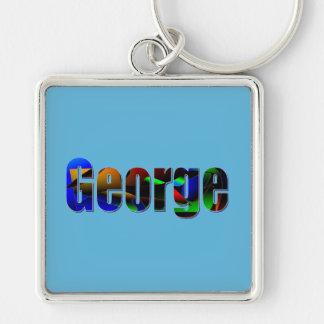 George Blue Premium Keychain