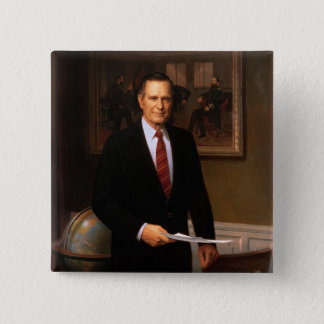 George Bush 15 Cm Square Badge