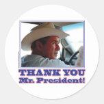 George Bush/Thank you! Sticker