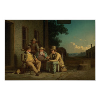 George Caleb Bingham - Canvassing for a Vote Poster