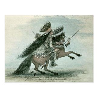 George Catlin - Warrior Postcard