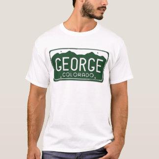 GEORGE Colorado License Plate T-Shirt