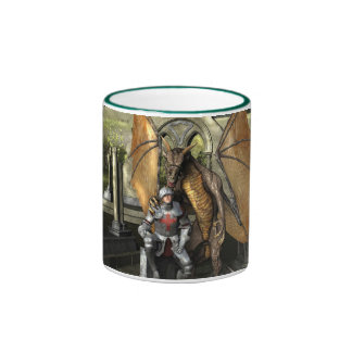 George & Dragon Mug: Wrap Around Image Ringer Mug