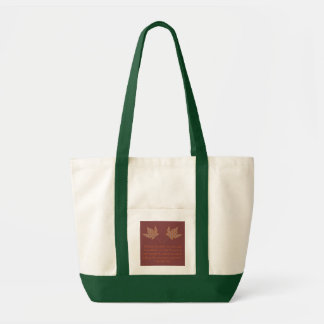 George Eliot Autumn Quote Bag