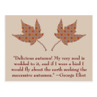 George Eliot Autumn Quote Postcard
