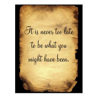 George Eliot's quote on life Postcard