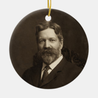 George Foster Peabody by the Pach Brothers Round Ceramic Decoration