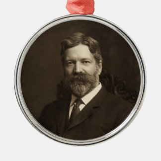 George Foster Peabody by the Pach Brothers Silver-Colored Round Decoration