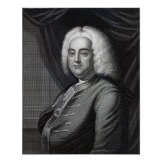 George Frederic Handel, engraved by Thomson Poster