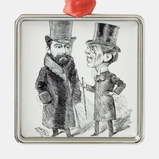 George Grossmith Jnr. and Richard D'Oyly Carte Metal Ornament