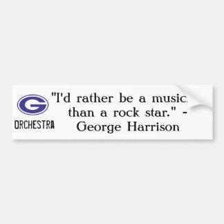 George Harrison quote bumper sticker