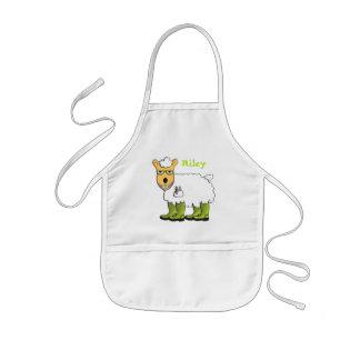 George - he's a little sheepish apron