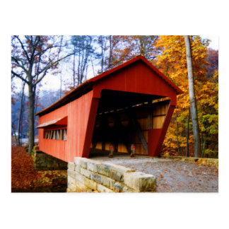 George Hutchins Covered Bridge Postcard