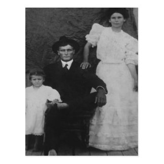 George, Ida, and little Zorah Langley Postcard