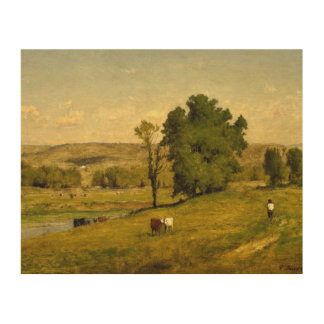 George Inness - Landscape Wood Canvas