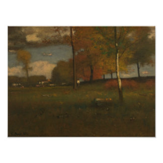 George Inness - Near the Village, October Art Photo