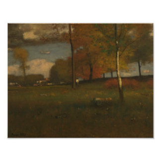 George Inness - Near the Village, October Photographic Print