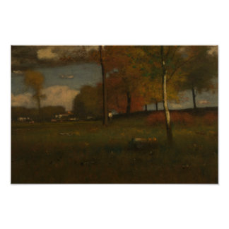 George Inness - Near the Village, October Poster