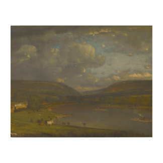 George Inness - On the Delaware River Wood Canvases